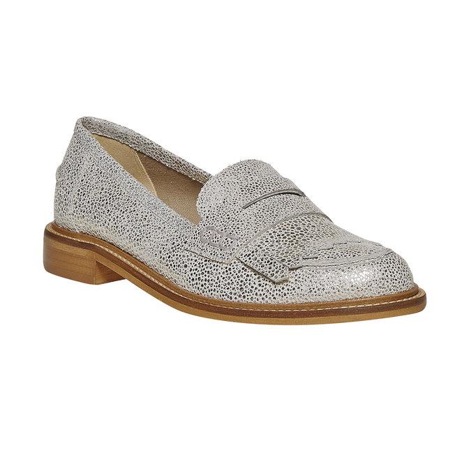 Loafer en cuir femme bata, Gris, 514-2272 - 13