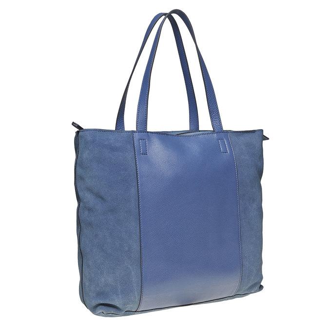 Sac à main en cuir avec pochette bata, Bleu, 964-9185 - 13