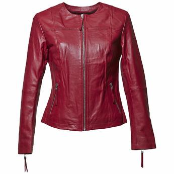 Blouson élégant en cuir bata, Rouge, 974-5312 - 13
