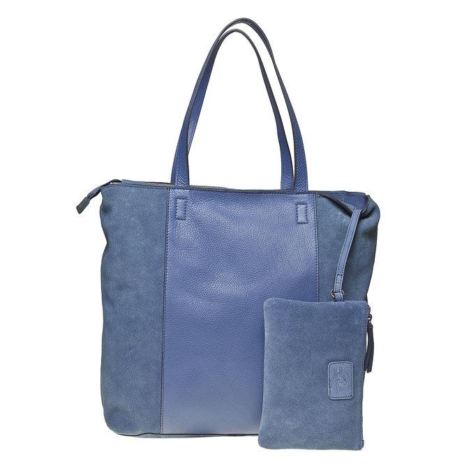 Sac à main en cuir avec pochette bata, Bleu, 964-9185 - 26