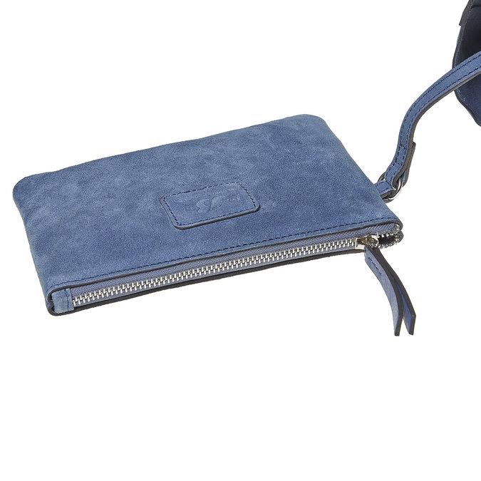 Sac à main en cuir avec pochette bata, Bleu, 964-9185 - 17