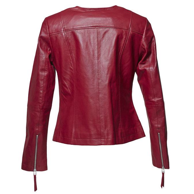 Blouson élégant en cuir bata, Rouge, 974-5312 - 26