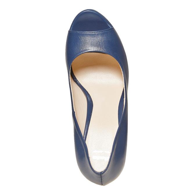 Escarpin bleu à bout ouvert bata, Violet, 724-9721 - 19