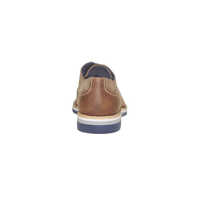 Chaussure lacée en cuir à semelle épaisse bata, Gris, 823-2258 - 17