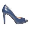 Escarpin bleu à bout ouvert bata, Violet, 724-9721 - 15