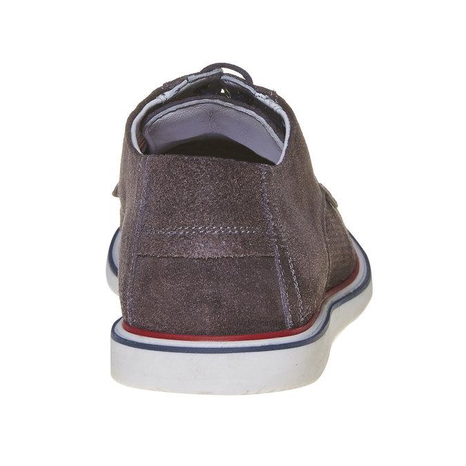 Chaussure lacée décontractée en cuir bata, Gris, 823-2239 - 17