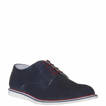 Chaussure lacée en cuir pour homme bata, Violet, 823-9239 - 13