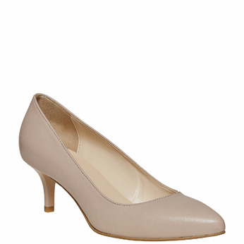 Escarpin pointu en cuir bata, multi couleur, 724-0482 - 13