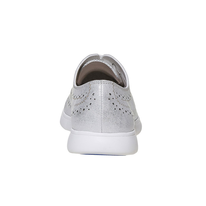 Chaussure argentée femme bata, Blanc, 524-1567 - 17