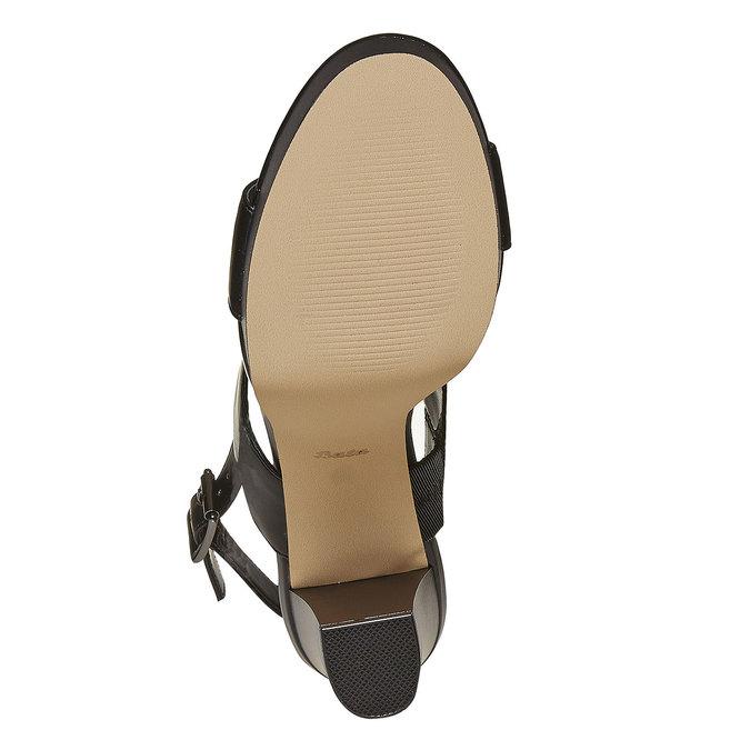 Sandale noire à talon massif insolia, Noir, 761-6727 - 26