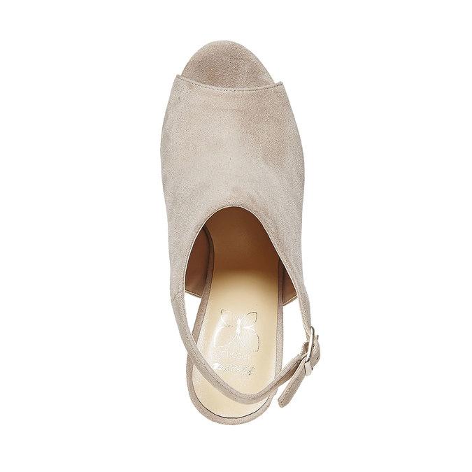 Sandale femme à plateforme épaisse insolia, Gris, 769-2501 - 19