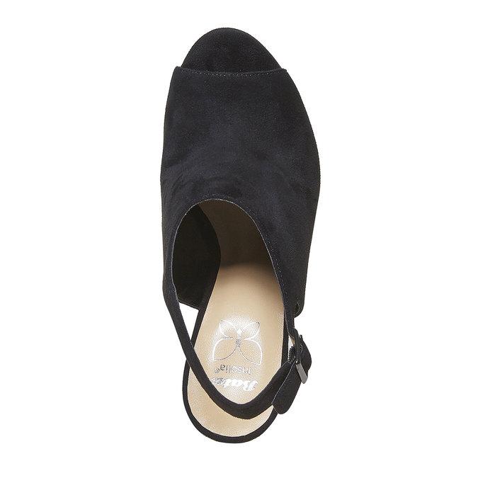 Sandale à plateforme rayée insolia, Noir, 769-6563 - 19