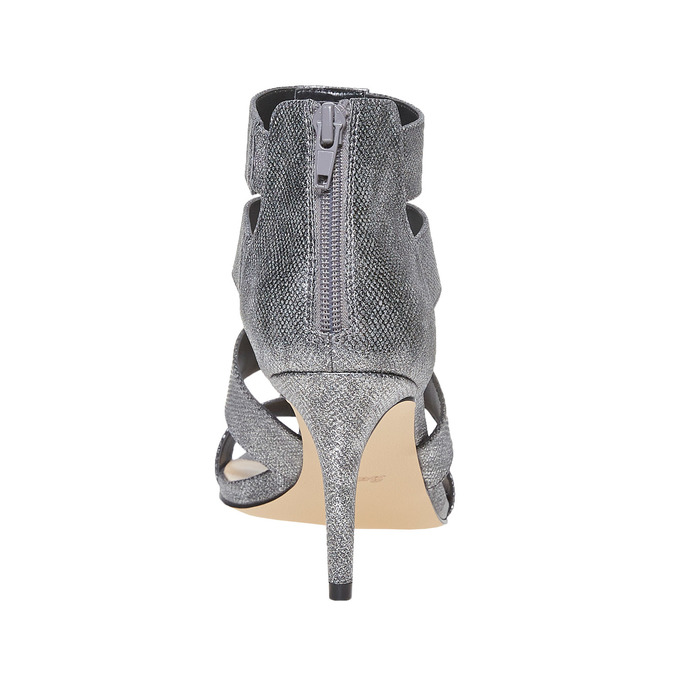 Sandale femme à talon aiguille insolia, Gris, 761-2399 - 17