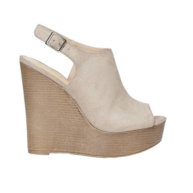 Sandale femme à plateforme épaisse insolia, Gris, 769-2501 - 15