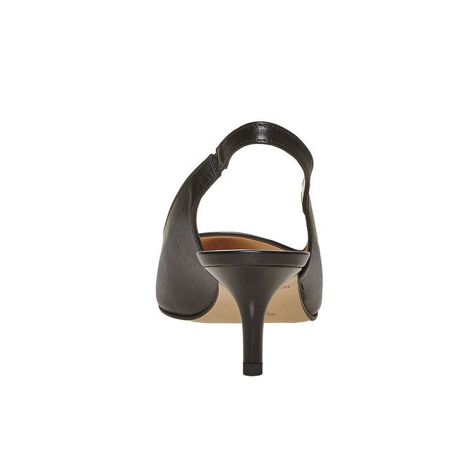 Sling-back en cuir femme bata, Noir, 724-6677 - 17