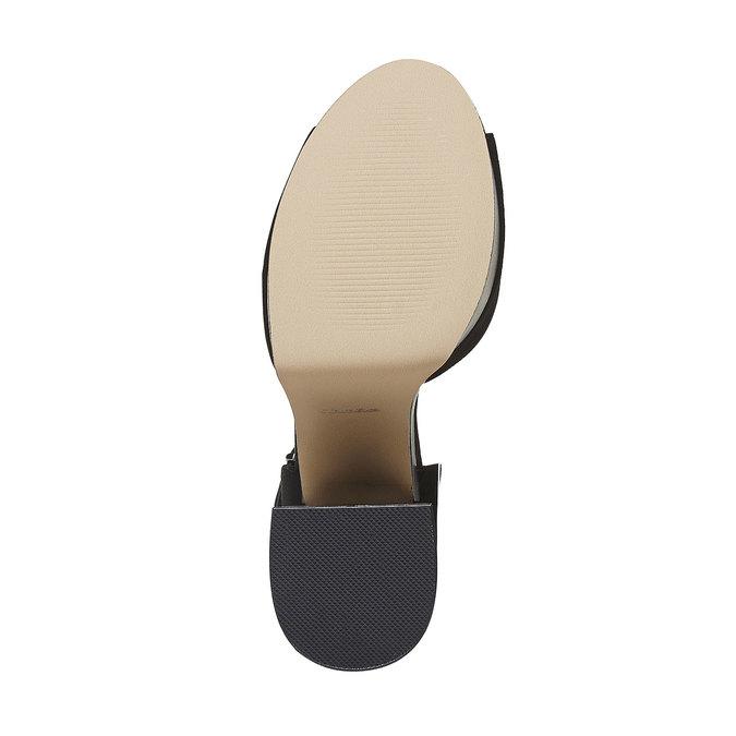 Sandale femme à talon massif insolia, Noir, 769-6493 - 26