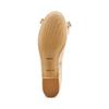 Ballerine en cuir à nœud bata, Beige, 524-8420 - 19