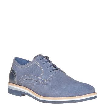 Chaussure lacée en cuir à semelle épaisse bata, Violet, 823-9258 - 13