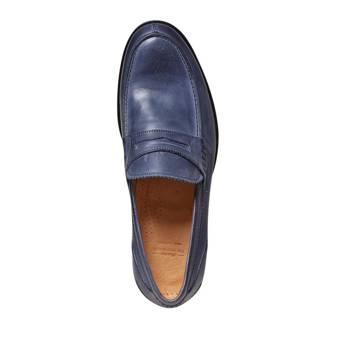 Penny Loafer en cuir bata-the-shoemaker, Violet, 814-9160 - 19