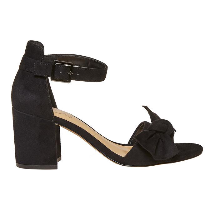 Sandale à talon avec nœud insolia, Noir, 769-6253 - 15