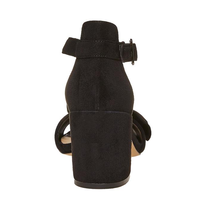 Sandale à talon avec nœud insolia, Noir, 769-6253 - 17