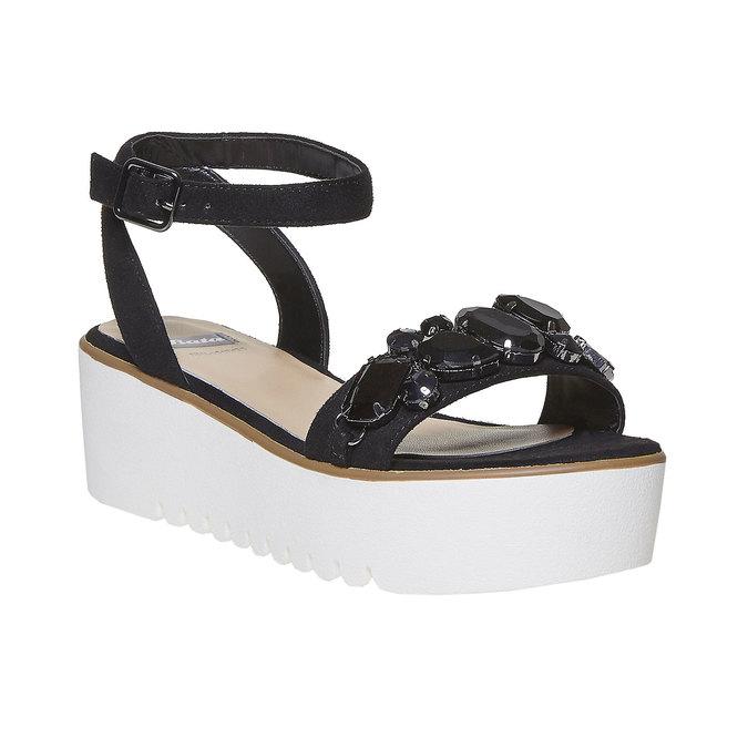 Sandale femme à plateforme épaisse bata, Noir, 669-6234 - 13