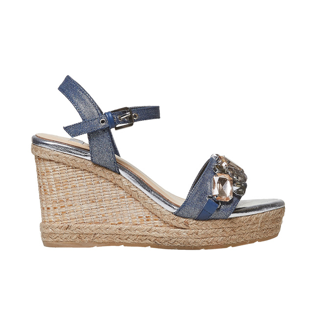 Sandale femme avec pierres bata, Violet, 769-9575 - 15