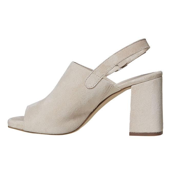 Sandale en cuir à talon massif bata, 763-8577 - 26