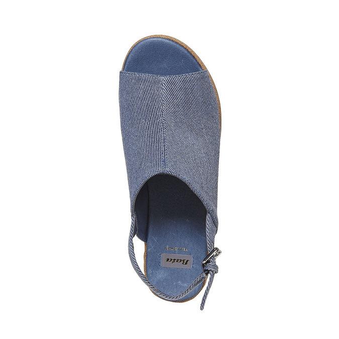 Sandale en jean à plateforme bata, Violet, 669-9241 - 19