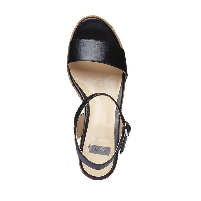 Sandale à plateforme pour femme bata, Noir, 761-6523 - 19