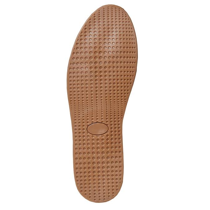 Basket en cuir avec semelle en jute bata, Gris, 853-2317 - 26