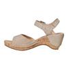 Sandale en cuir à talon compensé bata, Jaune, 764-8598 - 26