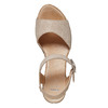 Sandale en cuir à talon compensé bata, Jaune, 764-8598 - 19