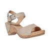 Sandale en cuir à talon compensé bata, Jaune, 764-8598 - 13