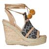 Sandale compensée femme à lacet bata, Gris, 769-2574 - 15