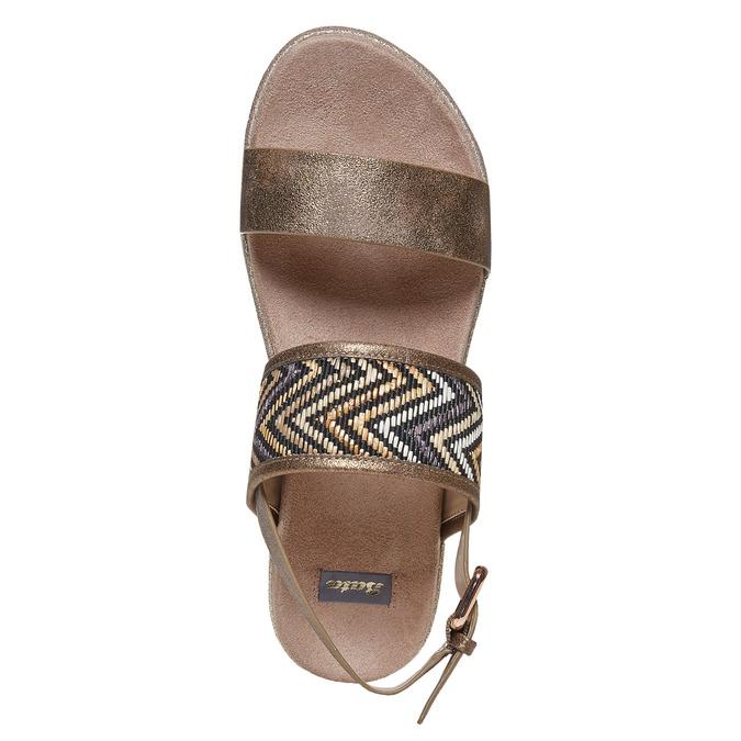 Sandale femme à semelle épaisse bata, Jaune, 569-8438 - 19