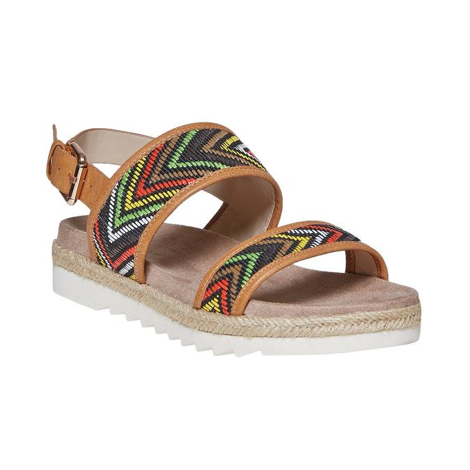 Sandale à motif femme bata, Brun, 569-4438 - 13