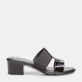 Sandale femme à talon bas bata, Noir, 671-6835 - 13