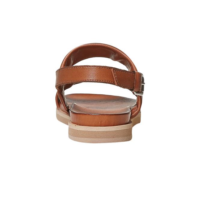 Sandale en cuir marron bata, Brun, 564-3446 - 17