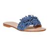 Mule à franges en cuir bleu bata, Violet, 573-9354 - 13