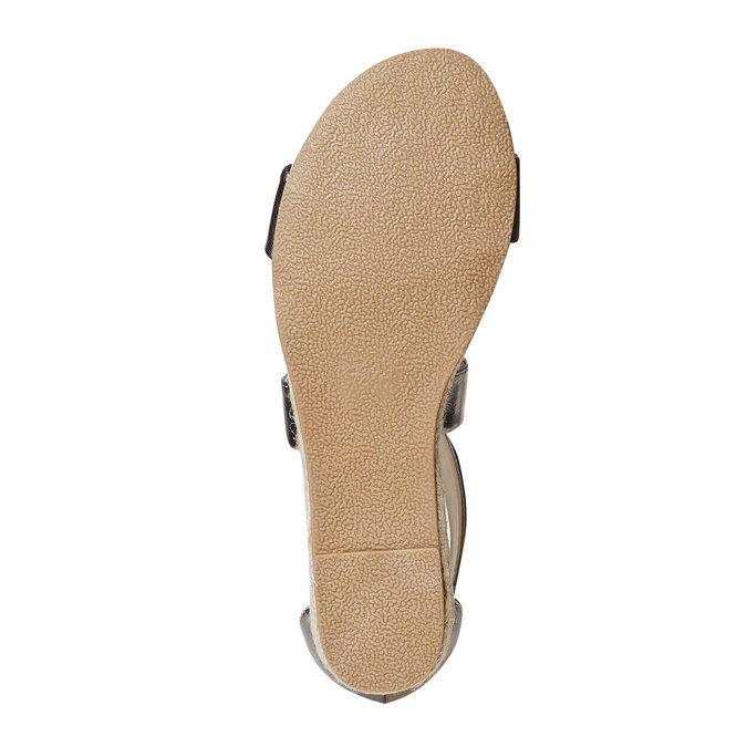 Sandale femme à petit talon compensé bata, Blanc, 561-1505 - 26