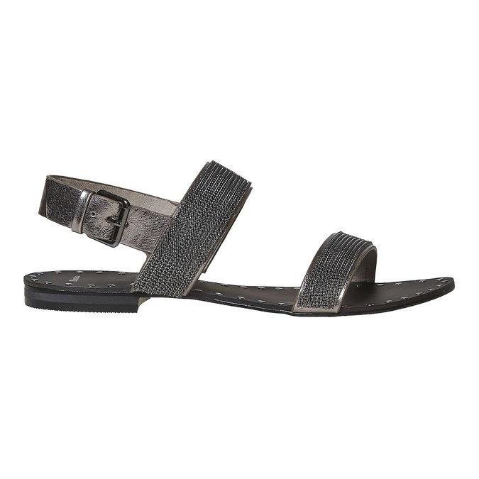 Sandale femme avec applique décorative bata, Noir, 561-6501 - 15