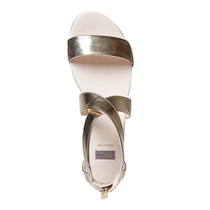 Sandale compensée femme couleur dorée bata, Jaune, 561-8505 - 19
