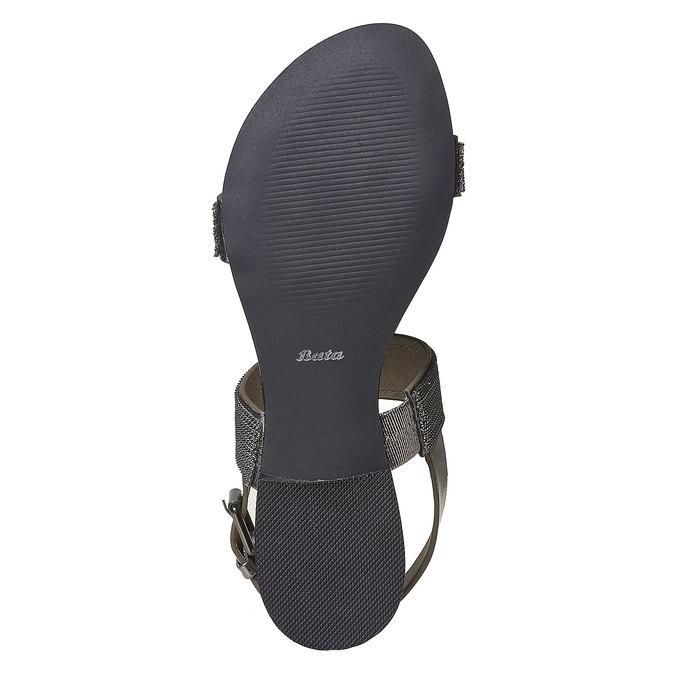 Sandale femme avec applique décorative bata, Noir, 561-6501 - 26