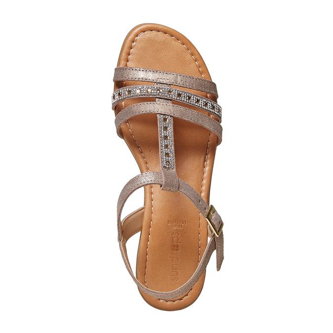 Sandale en cuir femme sundrops, Jaune, 564-8402 - 19