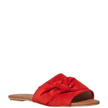 Mule en cuir femme bata, Rouge, 563-5411 - 13