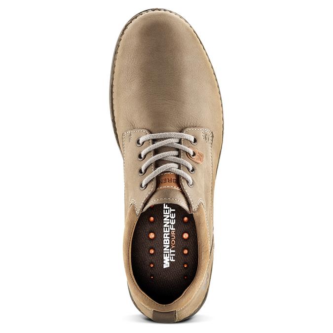 Chaussures lacées en cuir weinbrenner, Jaune, 846-8436 - 15