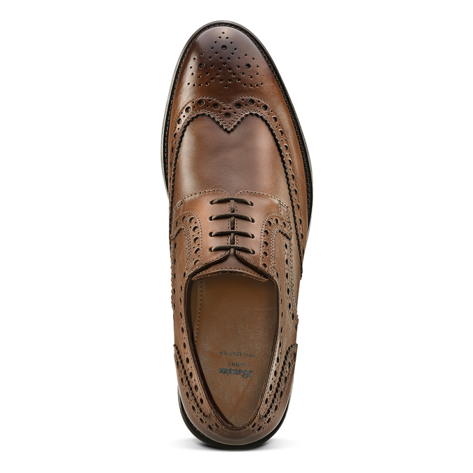 Derbies en cuir bata-light, Brun, 824-4399 - 15