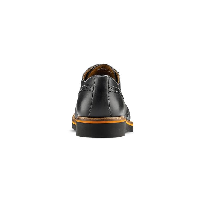 Chaussure lacée en cuir à semelle épaisse bata-the-shoemaker, Noir, 824-6190 - 16