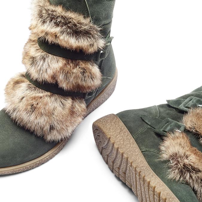 Women's shoes bata, Vert, 593-7442 - 19